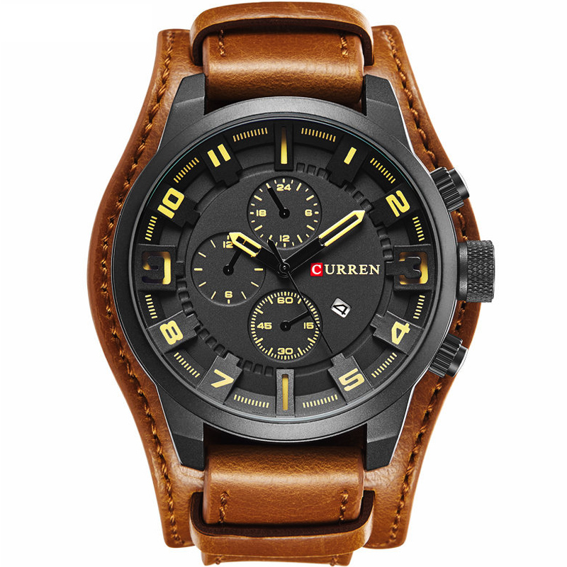 Mens Watches Top Brand Luxury Curren Watch Men Casual Military Sport Analog Quartz Watch Male Waterproof Leather Montre Homme(China (Mainland))