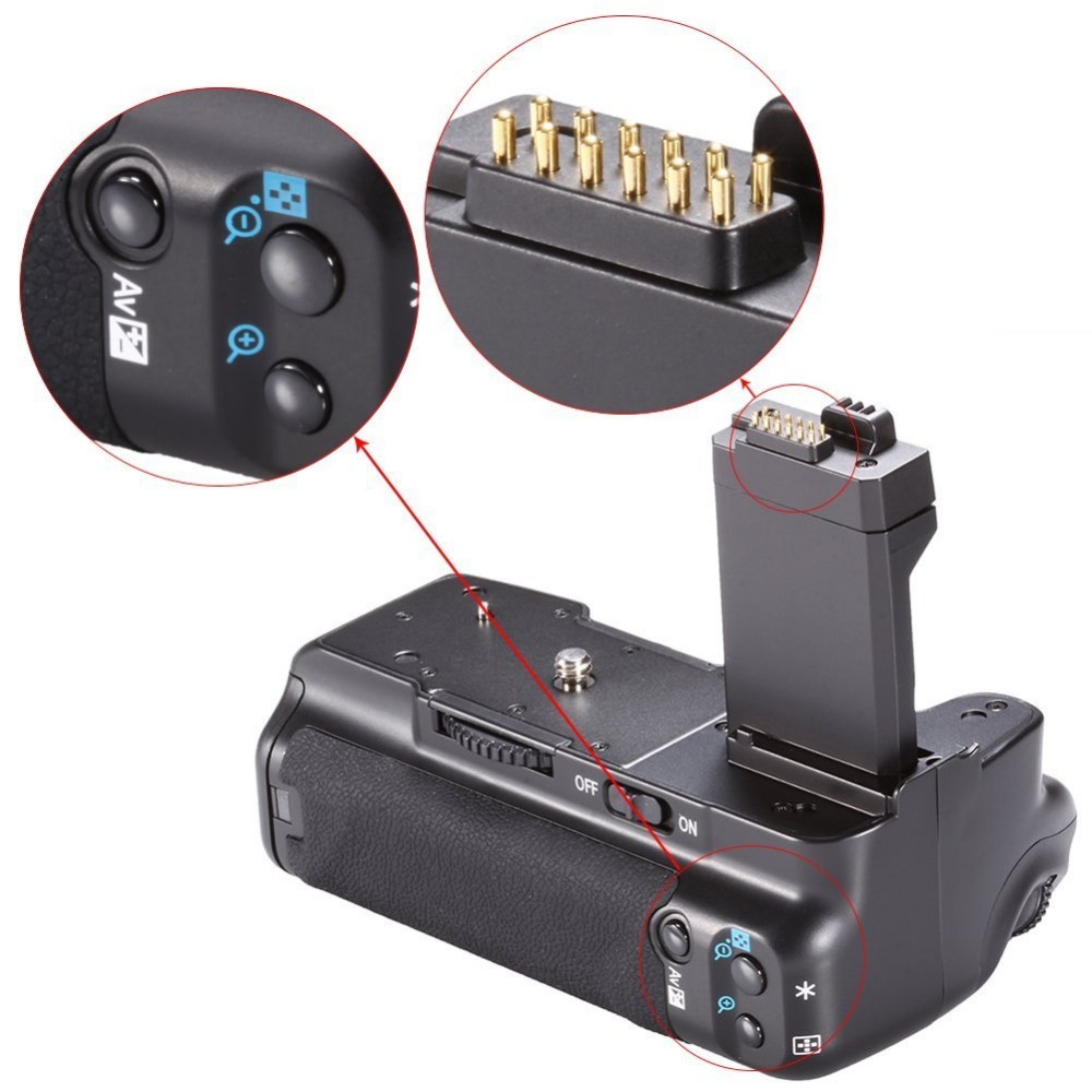 Professional Battery Grip BG-E5 Replacement + Battery Grip Holder for Canon EOS 450D 500D 1000D Rebel XS XSi T1i