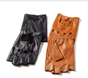 Gloves male female half gloves paragraphs thin short breathable sheepskin men antiskid outdoor sports  -  Online Store 214194 store