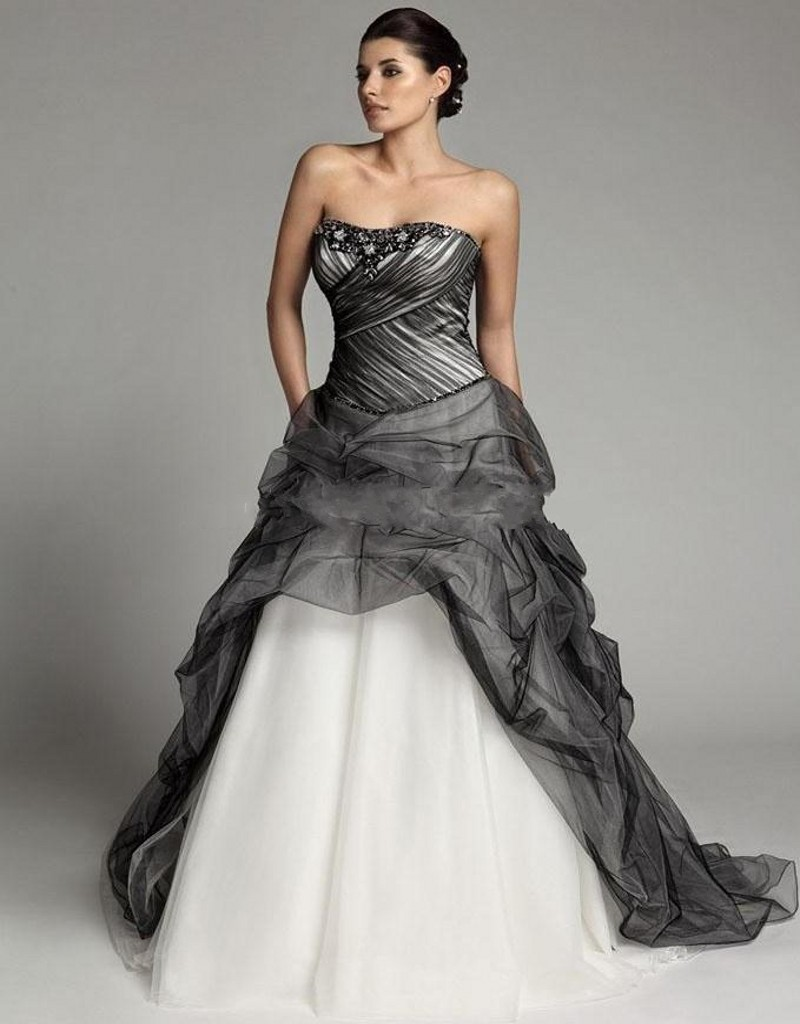 Plus size black gothic wedding dresses formal dresses for Plus size wedding dresses size 32 and up
