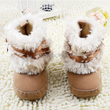 0 18M Fashion Winter Newborn Baby Shoes Pink White Red Khaki First Walkers Snow shoes