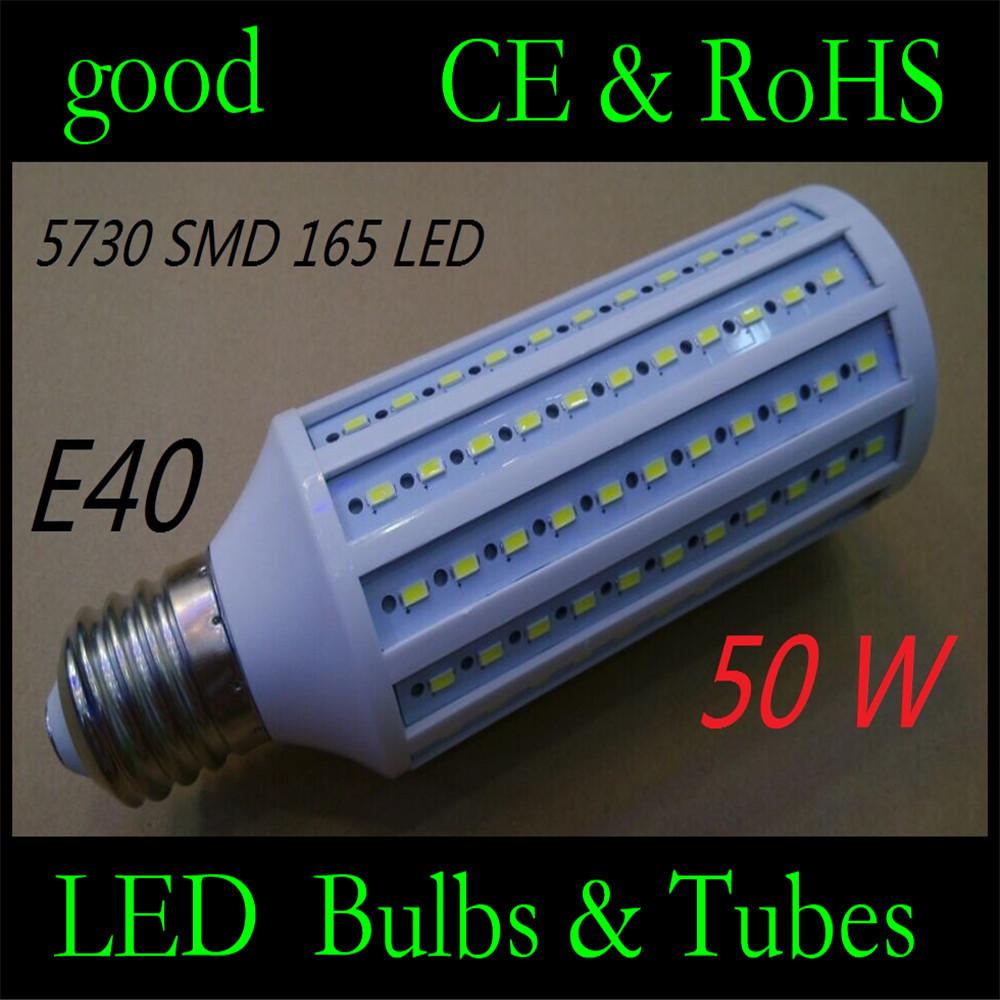 50W LED bulb E40 LED Light 5730 SMD 165 LED Corn Lamp High brightness AC110V/220V Maize Lamp Home Indoor Outdoor street lighting(China (Mainland))