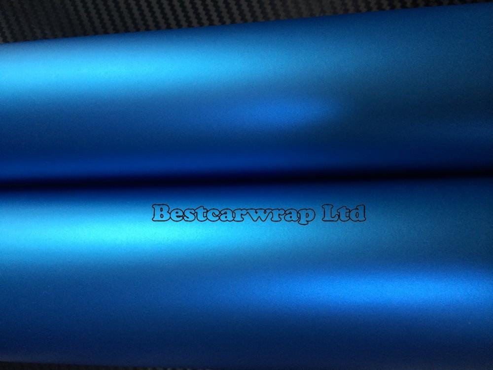 TATANUM Matt BLUE METALLIC CHROME SATIN VINYL CAR WRAP FILM 3M (3)