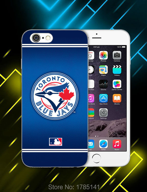 1pcs MLB Toronto Blue Jays hard white Skin Case for iphone6 (4.7inch) and iphone6 plus(5.5inch) Retail(China (Mainland))