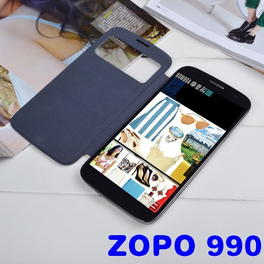 Original ZP990 Leather Case Intelligent sleep wake Cover ZOPO 990 C7 - Connie An's store
