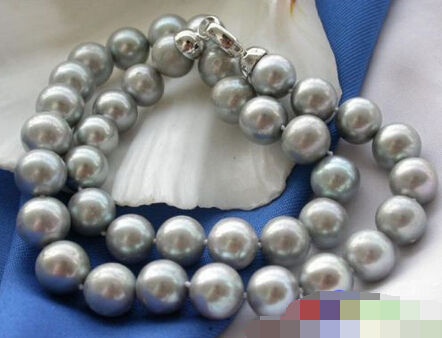 930 ROUND GRAY FRESHWATER PEARL NECKLACE<br><br>Aliexpress