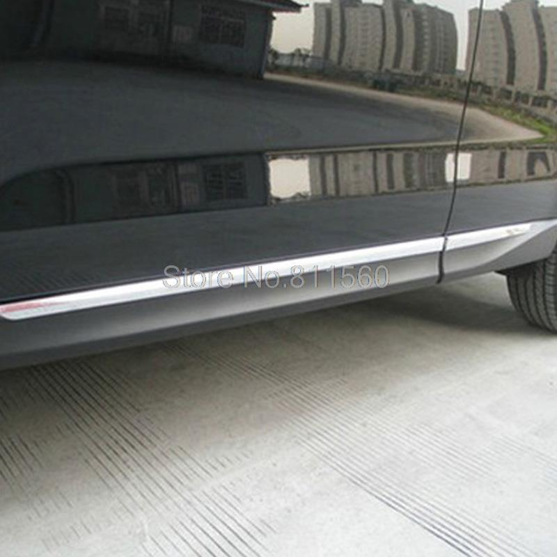 Subaru Forester 2013 2014 ABS Body Side Moulding Trim Overlay