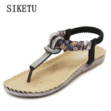 Buy Summer new women's fashion sandals bohemian large size woman sandals soft-bottomed comfortable casual flat sandals35 39 40 41 42 for $17.39 in AliExpress store