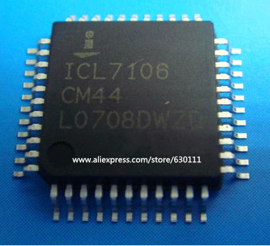 Free Shipping 20 PCS ICL7106CM44 QFP-44 ICL7106CM ICL7106 3 1/2 Digit, LCD/LED Display, A/D Converters(China (Mainland))