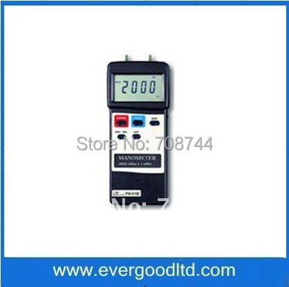 Measuring Range 0-2000mbar 8 Kind Display Units RS232 PC interface Build-in Sensor PM-9100 Manometer(China (Mainland))