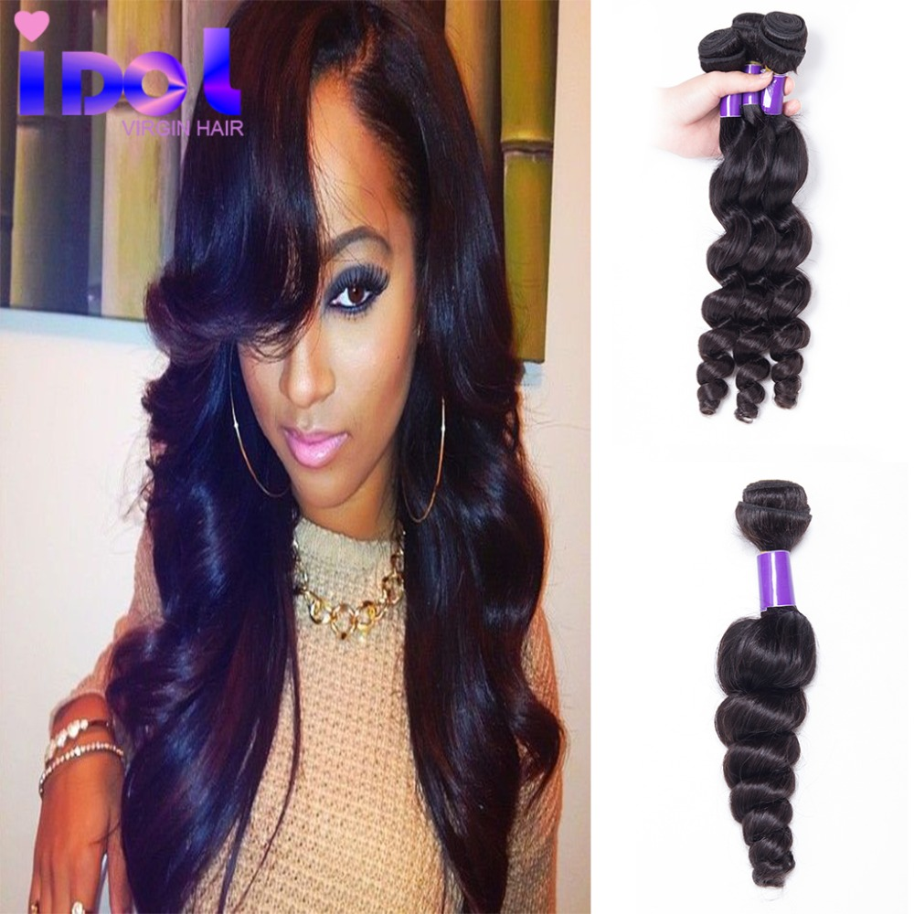 King Queen Peruvian Loose Wave Virgin Hair 3 Bundles 100g/Pcs Lot Unprocessed Virgin Human Hair Ponytail Wig <br><br>Aliexpress