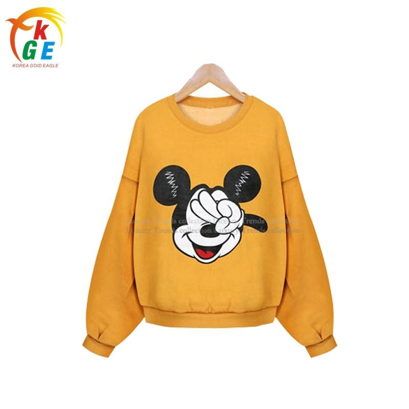 2016 New Winter Women Sweatshirt Cartoon Mouse Printed Hoodies Sport Pullover Short Hoodies Sweatshirts Feminina Camisola PE168(China (Mainland))