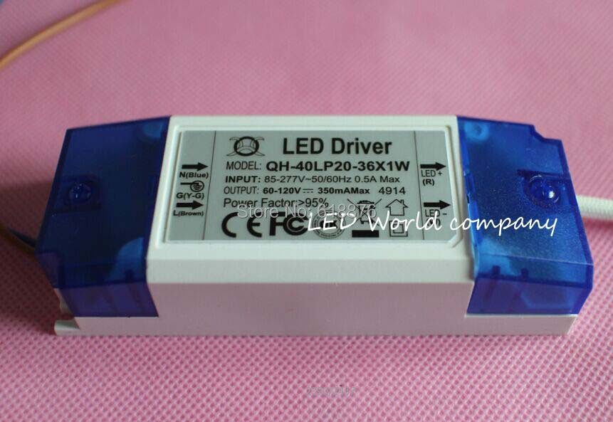 Constant Current Driver 31W LED 20-36 x 1W 85v-265v 36W led driver - World company store
