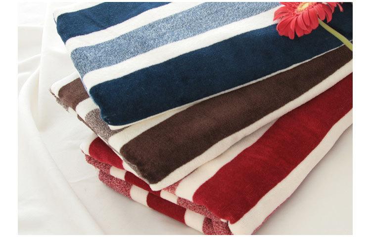 Soft cotton Velour Bath Towel 70x140cm 380g (blue,brown,red)(China (Mainland))