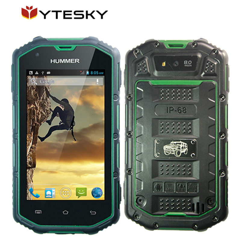 Hummer H5 Waterproof IP68 Smart phone 4.0inch screen android 4.2 dual core MTK6572A 512M 4G dual card dual standby phone(China (Mainland))