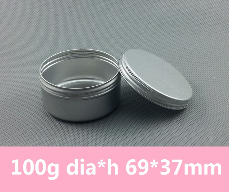 100pcs/lot 100ml 3.5oz Round Tin Container Vintage Tea Mint Tins Hinged Tin Box 100g Aluminum Can Candle Tins(China (Mainland))
