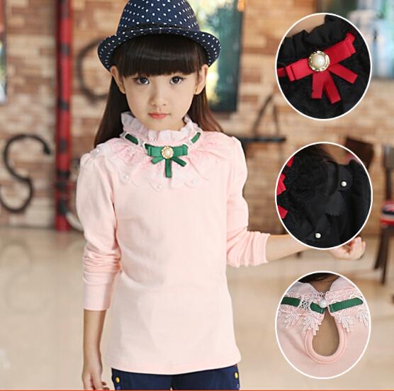 Girls Autumn T-Shirts Childrens Casual Shirt Girl Cotton Printed Shirt Girls Long-Sleeve T-Shirt Kids Shirts Clothes for Girl(China (Mainland))