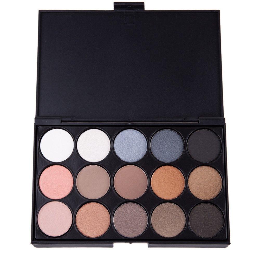 Natural 15 Colors Long Lasting Makeup Pearly Eyeshadow Palette Mirror(China (Mainland))
