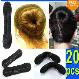 25PCS Wholesale jewelry lots Styling Bun Maker Easy and Fashion Hair accessory Free Shipping