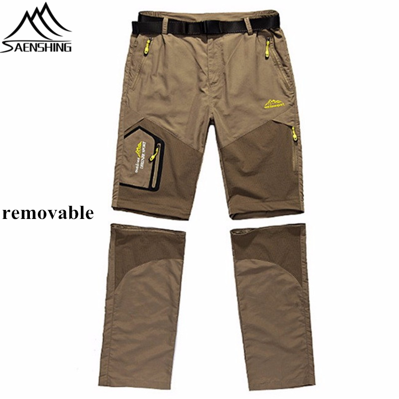 2016 Quick Dry Pants Men Camping Waterproof Pants Men Outdoor Sport Trekking Hiking Pants Removable Breathable Men Casual Pants(China (Mainland))