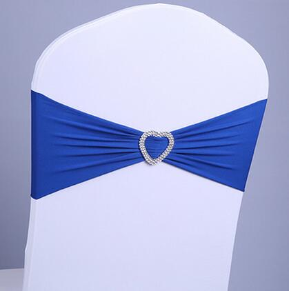 1 PCS Brand Stretch chair cover band Heart-shaped Elastic Spandex chair belt sashes for wedding hotel banquet Accessories decor(China (Mainland))