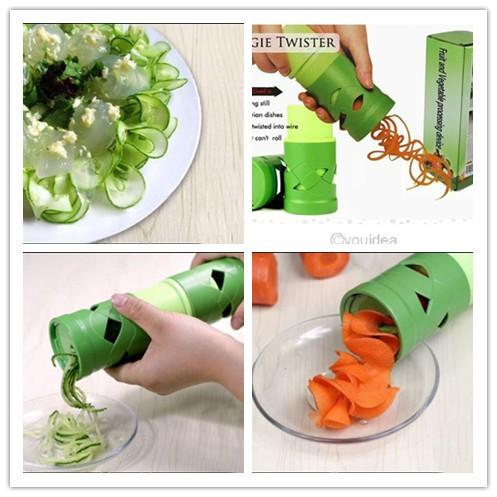 Legumes fruta Twister cortador Slicer processamento dispositivo utensílio ferramenta 80049