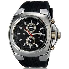 V6 Super Speed Men s sports watches Fashionable Wrist Watch with Calendar Function rubber strap watch
