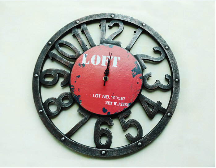 aliexpress buy free shipping vintage style wooden wall clock loft printing wooden