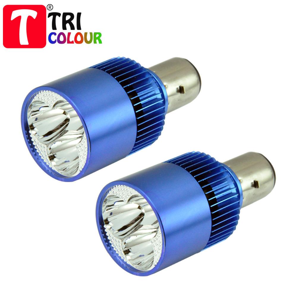 Tricolour ba20d motorcycle e bike led spot light lamps for Where can i buy light bulbs