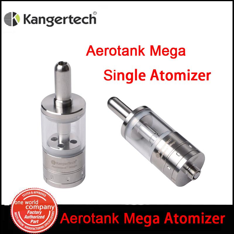 100% Kangertech Aerotank Mega Single clearomizer  3.8ml Kanger Dual Coil  E cigarette Adjustable Control Atomizer Vapor(MM)