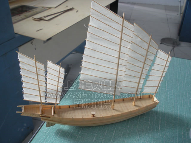 Free shipping Assembly Model kits Classical wooden 1/80 Large junk wooden scale model building assembly wood model kit(China (Mainland))