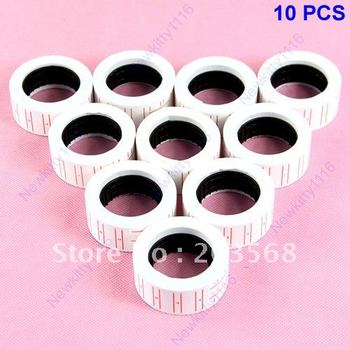 D19+Dropshipping 10 Rolls Price Labels Paper Tag Mark Sticker For MX-5500 Price Gun Labeller+Free Shipping