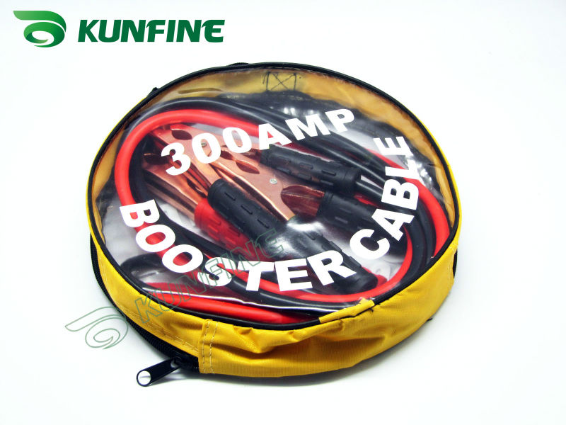 Free shipping Wholesale price car booster cable 300Ampere 2meters long(China (Mainland))