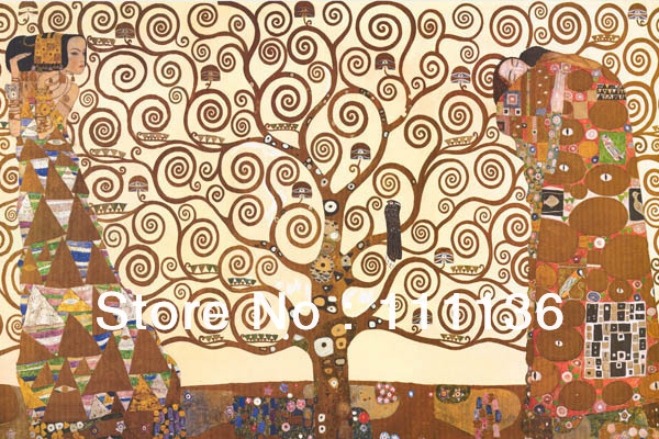 Free shipping100% hand painted high quality repro oil painting on canvas fulfillment Gustav Klimt Art home decoration(China (Mainland))