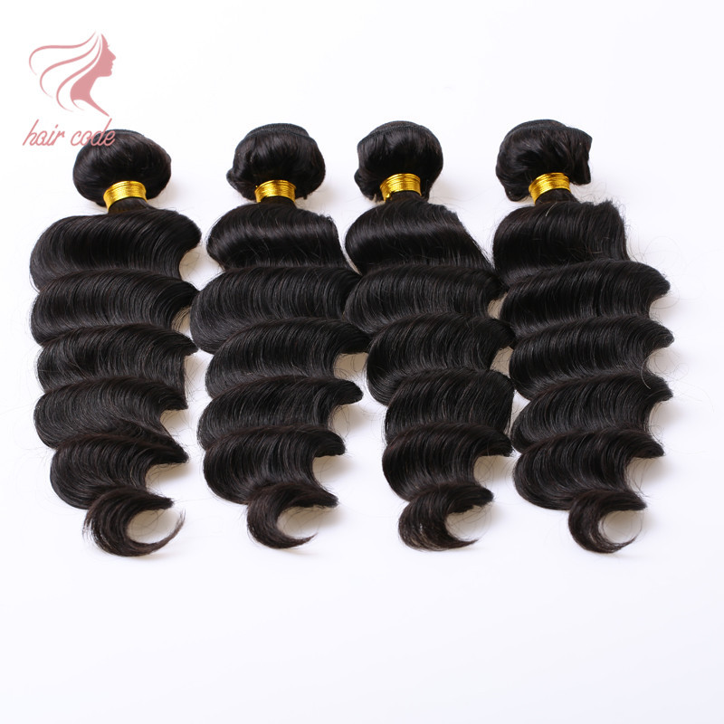 Good Quality 7a Peruvian Virgin Hair Ocean Wave 4 Pcs Peruvian Ocean