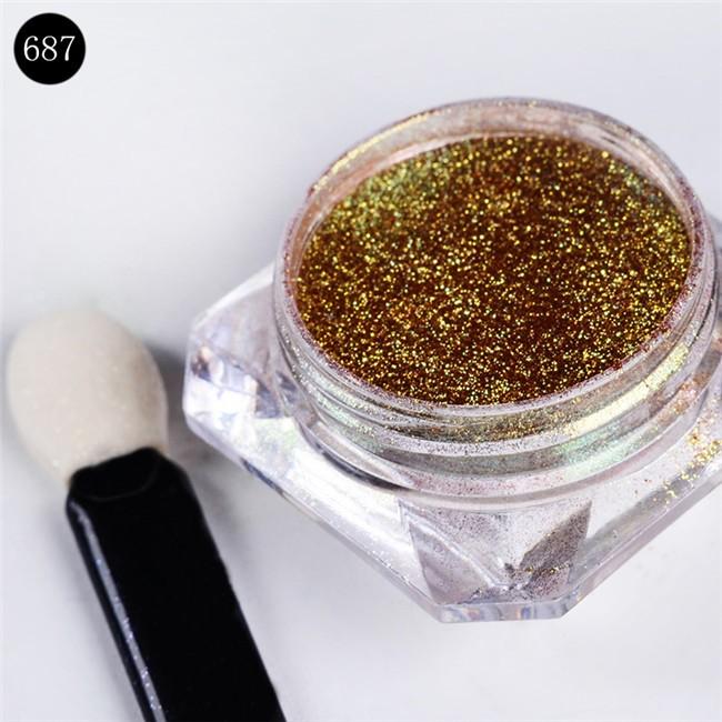 1g/Box Bling Mirror Nail Glitter Powder Gorgeous Nail Art Sequins Chrome Pigment Glitters