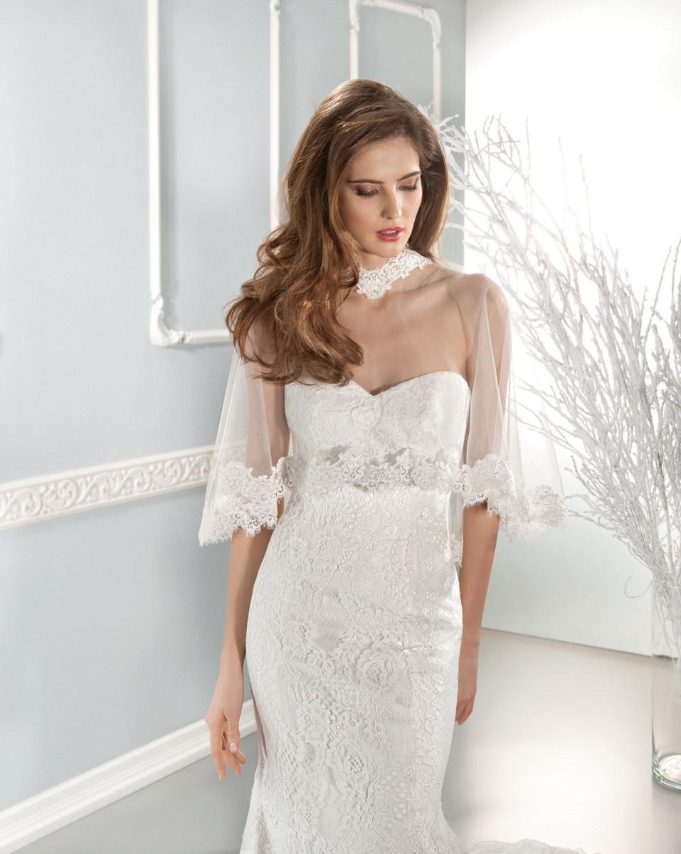 2015 Lace Mermaid With Sleeves Jacket Elie Saab Backless robe de mariee vestidos de novia Wedding Dress Bridal Gowns Custom Made(China (Mainland))