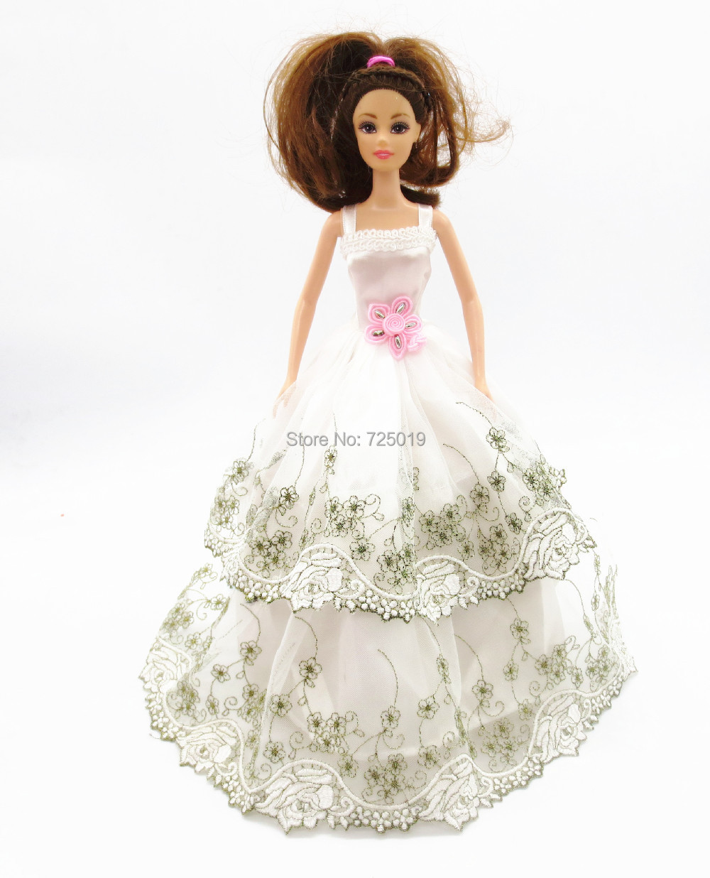 2015 handmade for barbie doll clothes dress the best Christmas gift baby h134