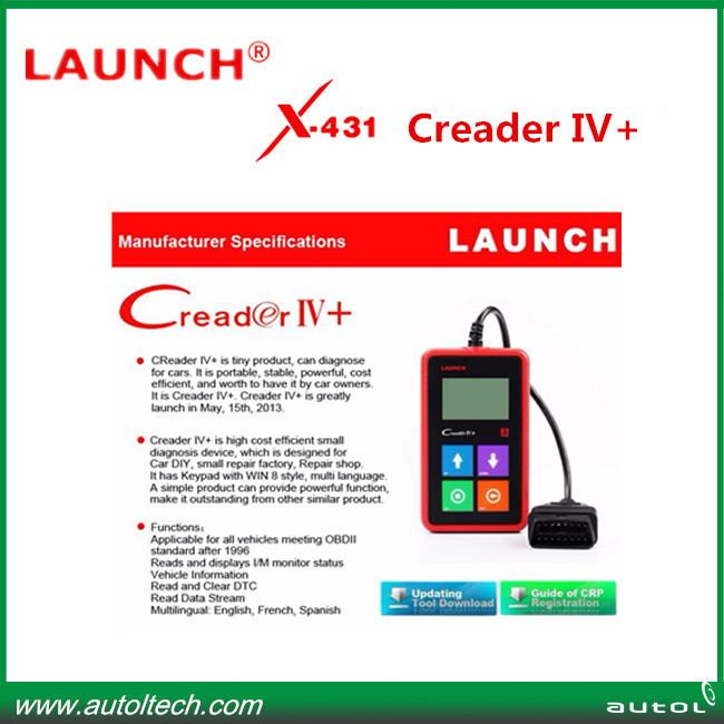 big sale Car Universal Code Scanner launch x431 creader iv plus auto fault code reader launch creader iv+(China (Mainland))