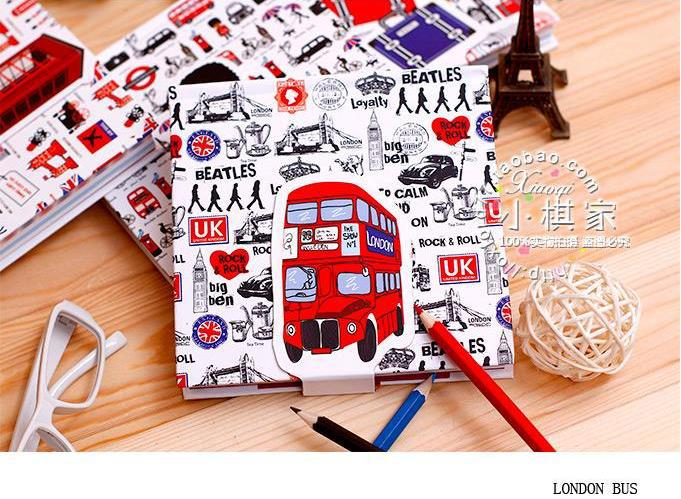 London style hardcover notepad planner notebook qute journal 120 sheets<br><br>Aliexpress