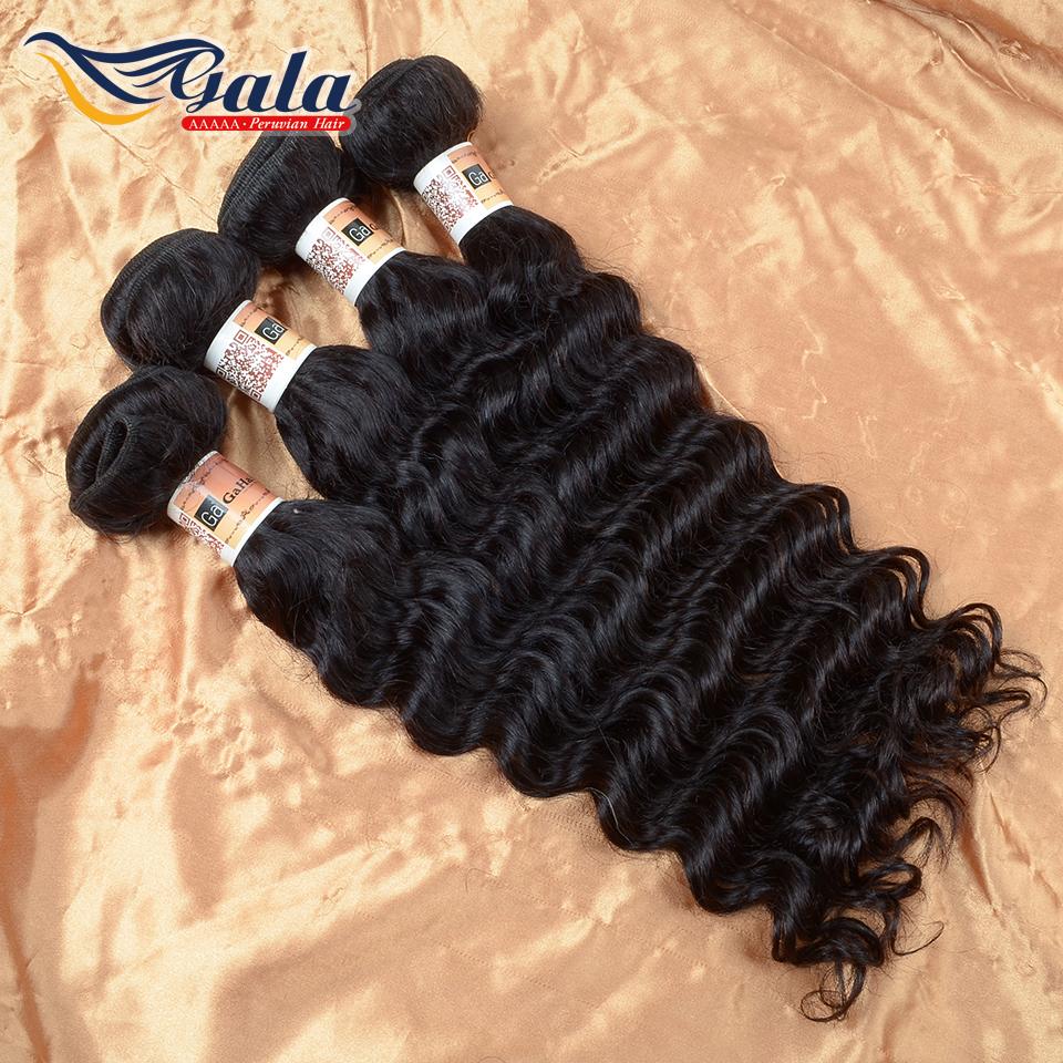 Peruvian Virgin Hair Deep Wave Human Hair Weave Bundles 100% Pure Human Hair Wet And Wavy Virgin Peruvian Hair Deep Curly(China (Mainland))