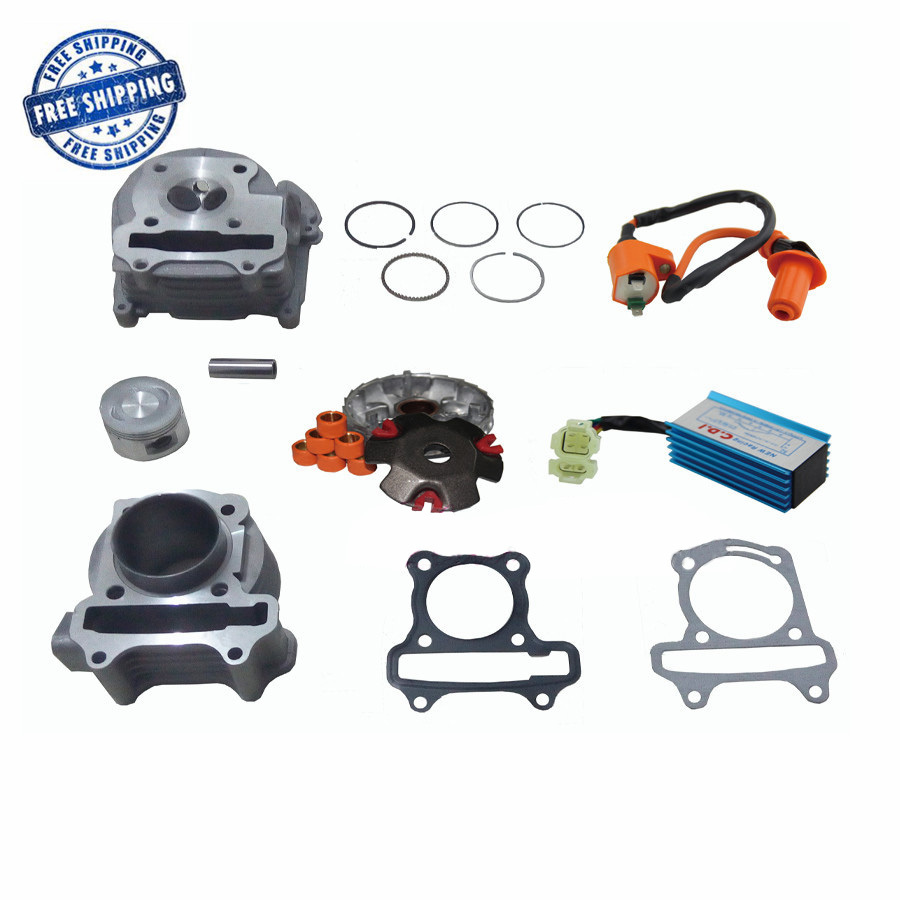 GY6 100cc Engine Part Big bore Cylinder Kit Cylinder Head Comp Racing CDI Performance Ignition Coil