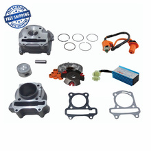 GY6 100cc Engine Part Big bore Cylinder Kit Cylinder Head Comp Racing CDI Performance Ignition Coil Variator Kit
