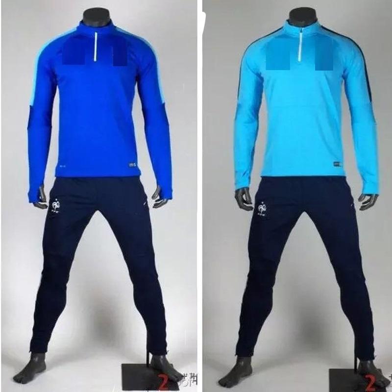 2016 New tracksuit Franceo Training Suit Soccer Tracksuit Dortmundu 1516 Football Training Suit jacket pants Set<br><br>Aliexpress