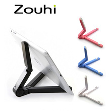 New Store Wholesale Prices Foldable Adjustable Stand Bracket Holder Mount for iPad Tablet PC Mobile Phone Holder Free Shipping(China (Mainland))