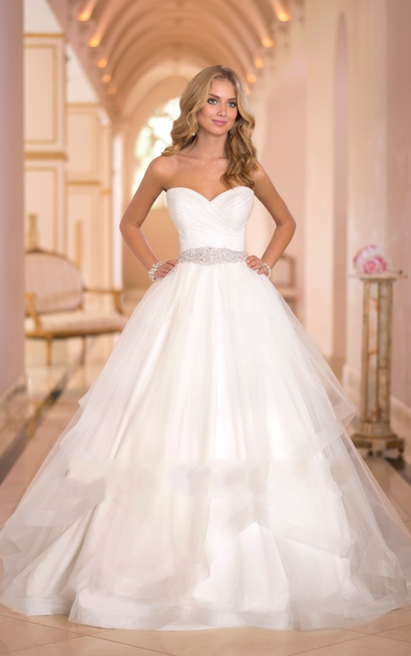 Wedding dress ball gown beaded new 2015 cheap wedding gowns plus size