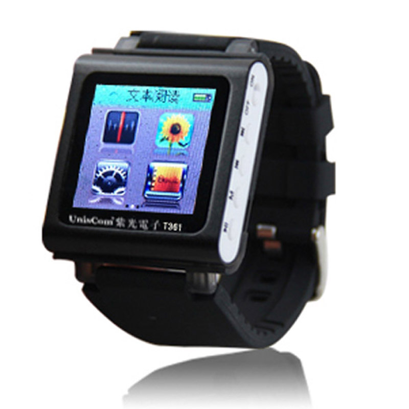 2016 8GB MP4 Player 1.5 inch Screen Brand Watch MP4 Movies Sport Chip MP4 Player Recording Radio FM Player E-Book Accelerometer(China (Mainland))