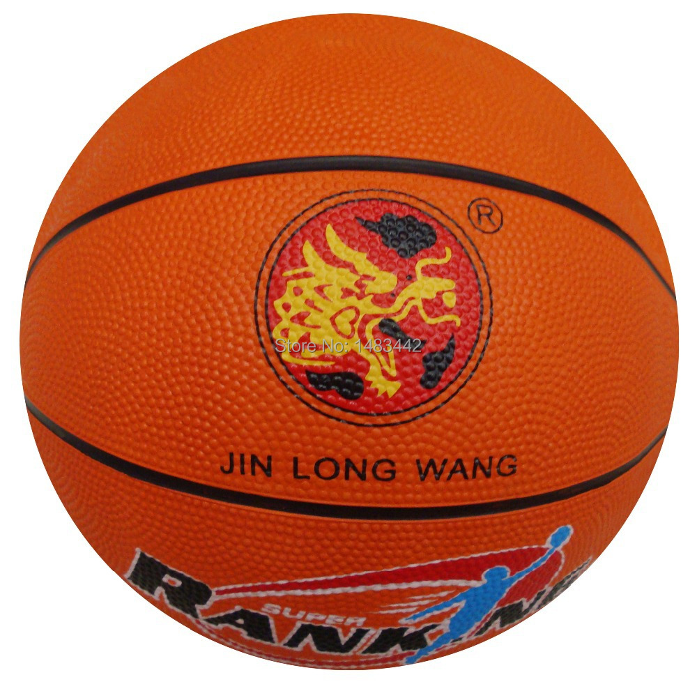 Free shipping - manufacturer promotions, the 5th orange, competitions, training, low-cost, rubber basketball(China (Mainland))