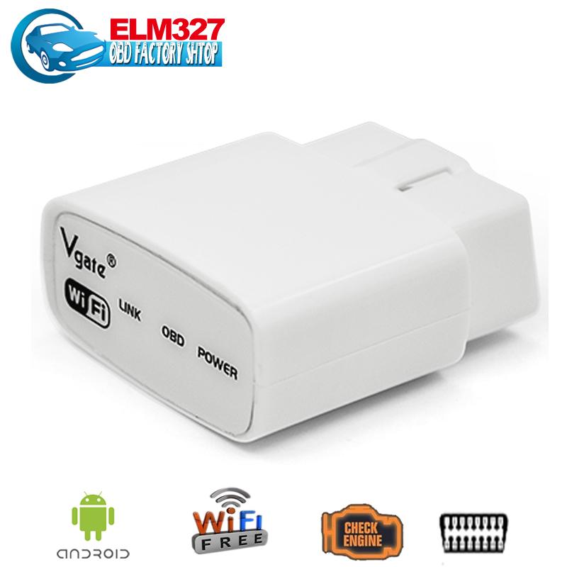 ELM 327 wifi Original Vgate iCar elm327 WIFI OBDII OBD2 car diagnostic tool case for iPhone IOS Android PC iPad Car(China (Mainland))