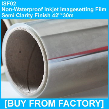 "Non Waterproof Inkjet Film Semi Clarity Finish 42""*30m"